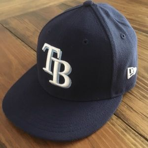 New Era Tampa Bay Rays Blue Size 7 Fitted Hat